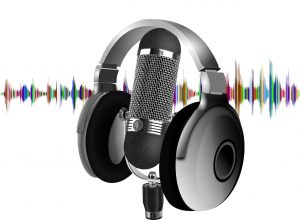 podcast, headset, microphone